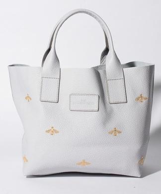 【NUR】Beeモチーフに刺繍トートバッグ