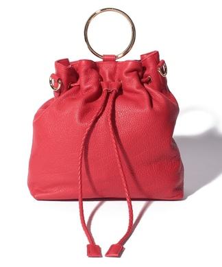 【PIETROALESSANDRO】リアルレザー巾着バッグ