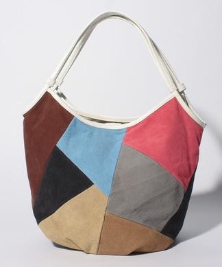 【Meissi】カラーブロックデザインバッグ
