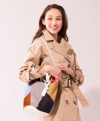 【Meissi】カラーブロックデザイントートバッグ