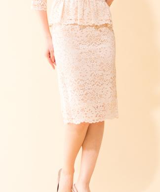 【セットアップ対応商品】総レースタイトスカート