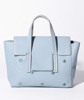 【NUR】ドット刺繍ハンドバッグ