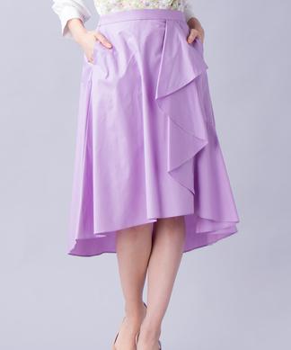 ラッフルフレアスカート