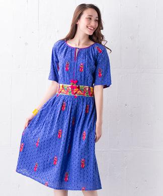 【NIMO WITH LOVE】刺繍ワンピース