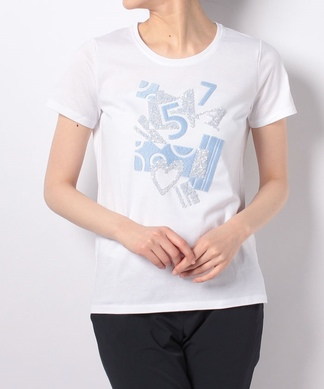 【PUPULA】刺繍×スパングルTシャツ