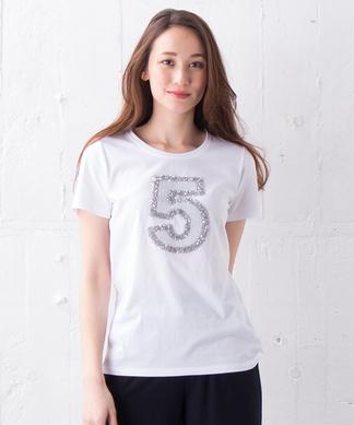 【PUPULA】ナンバリングモチーフTシャツ