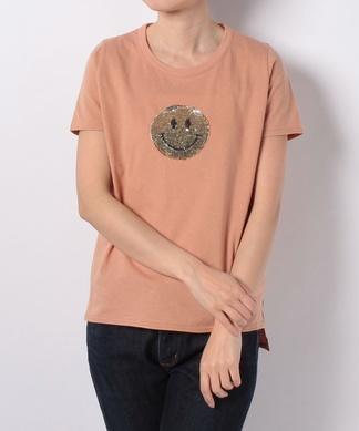 【Coomb】スパンコールスマイルTシャツ