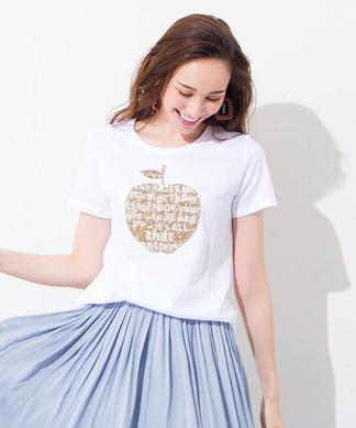 【PUPULA】アップルモチーフTシャツ