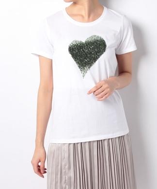 【PUPULA】ハートモチーフTシャツ