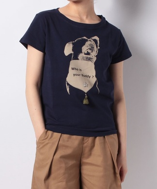 【Brahmin】ドッグプリントTシャツ