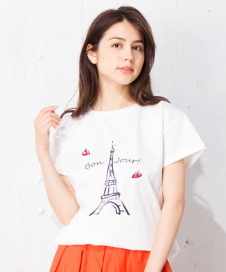 【Nouque】パリモチーフTシャツ