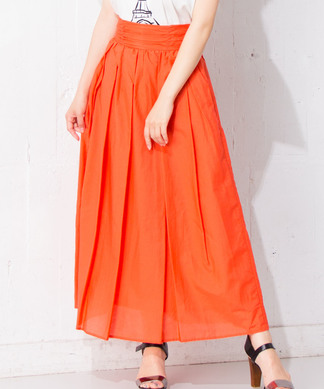 【MyLanKa】ギャザーマキシスカート