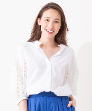 【HOOCHIE COOCHIE】デザインスリーブスキッパーシャツ