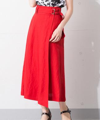 Special Price【MyLanKa】ウエストデザインベルトスカート