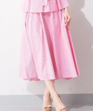Special Price【B7】ロングストライプスカート※セットアップ対応商品