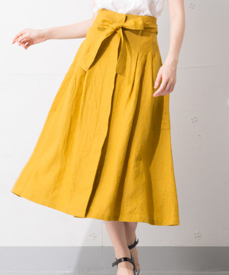 Special Price【B7】ウエストリボンスカート