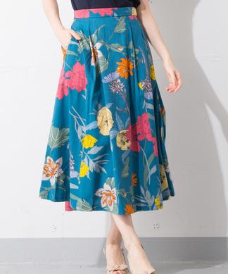 Special Price【B7】フラワープリントスカート