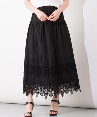 【セットアップ対応商品】【Brahmin】ヘムレーススカート