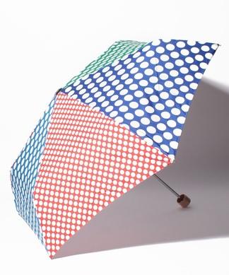 【+RING】ドット柄折り畳み傘