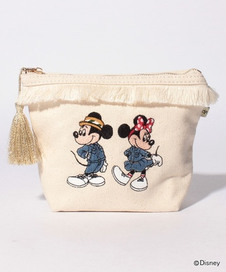 【ACCOMMODE】ミッキー&ミニー刺繍ポーチ