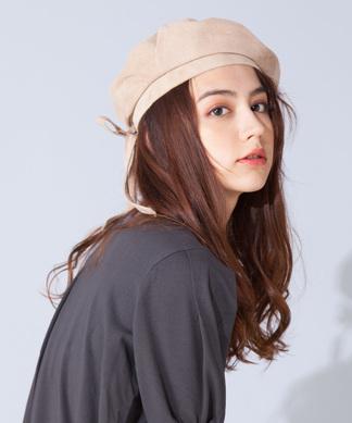 【CASSELINI】リアルレザースエードベレー帽