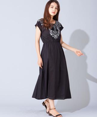 【BEATRICE】刺繍ワンピ-ス