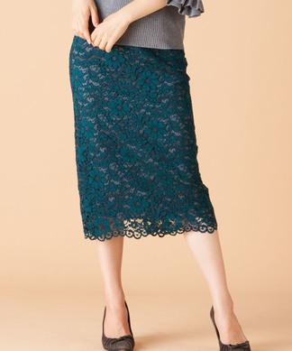 【PARLMASEL】レースタイトスカート