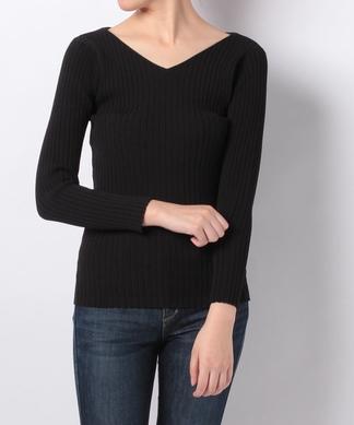 【Brahmin】Vネックリブセーター