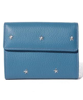 【NUR】スター刺繍折り財布