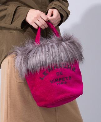 ロゴプリントハンドバッグ