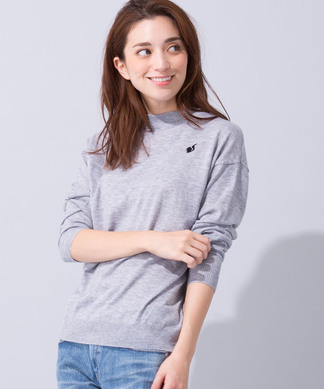 【Loana】ワンポイント刺繍セ-タ-