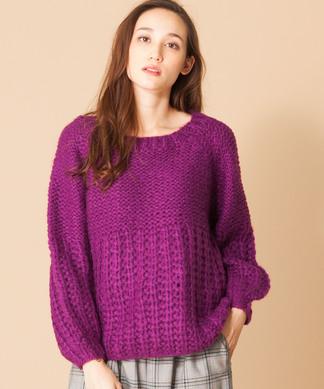 編み柄切り替えセ-タ-