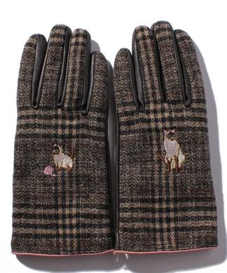 【CASSELINI】チェック柄手袋