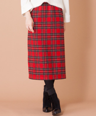 【GALENA】チェックタイトスカート