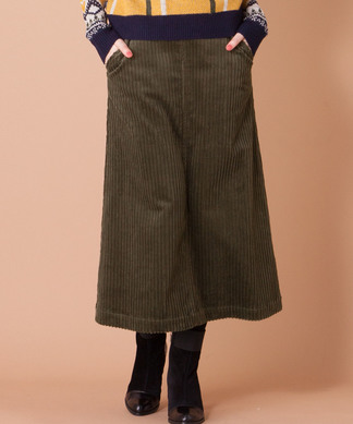 【MyLanKa】コーデュロイロングスカート