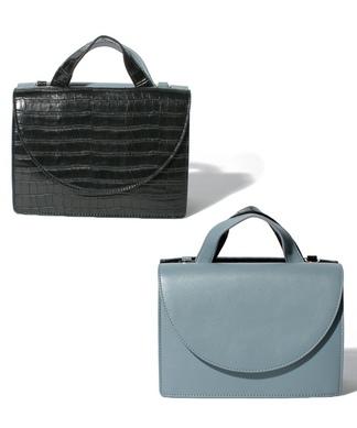 【CASSELINI】バイカラーハンドバッグ