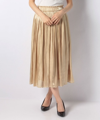 【PARLMASEL】シャイニーギャザースカート