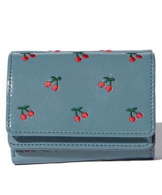 【CASSELINI】チェリー/リップ柄3つ折り財布