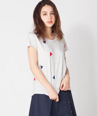 【SCOTCH & SODA】ハート柄半袖Tシャツ