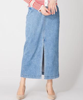 【YANUK】スリットロングデニムスカート