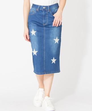 【ETOILE SIGNE】星柄刺繍タイトスカート