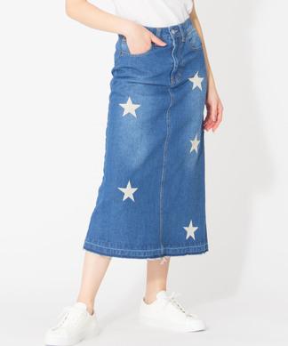 【ETOILE SIGNE】星刺繍タイトスカート