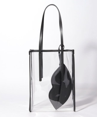 【CASSELINI】リップ型ポーチ付きクリアトートバッグ
