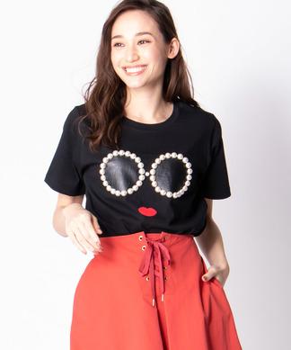 【A-Jolie】パールモチーフTシャツ