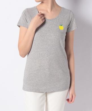 【ULTRA TEE】アップル刺繍半袖Tシャツ