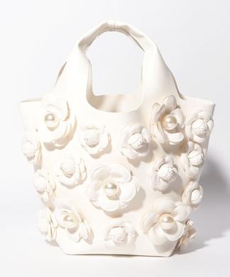【A-Jolie】フラワーモチーフハンドバッグ