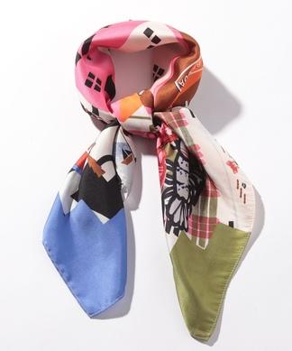【SCOTCH & SODA】グラフィック柄スカーフ