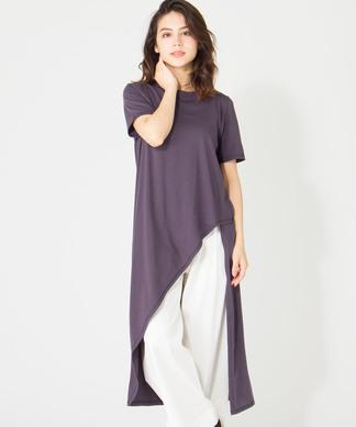【Coomb】カッティングロング丈Tシャツ
