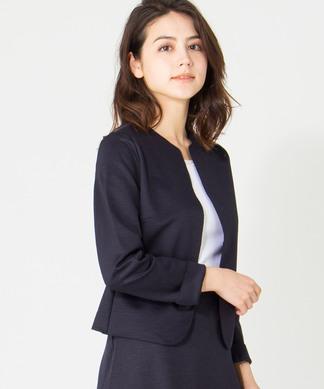 【セットアップ対応商品】麻混ノーカラージャケット