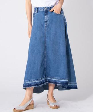 【YANUK/Flare Denim Skirt】デニムフレアスカ-ト